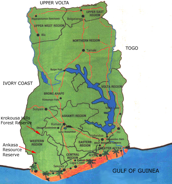 Map Of Ghana With Regions. There are ten regions namely